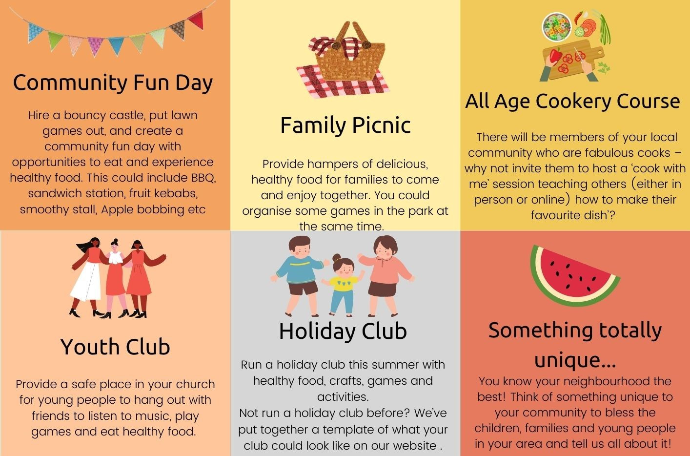 Ideas for Feast of Fun activities